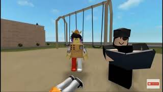 He put the gun to his head and 🔫 ROBLOX funny animation