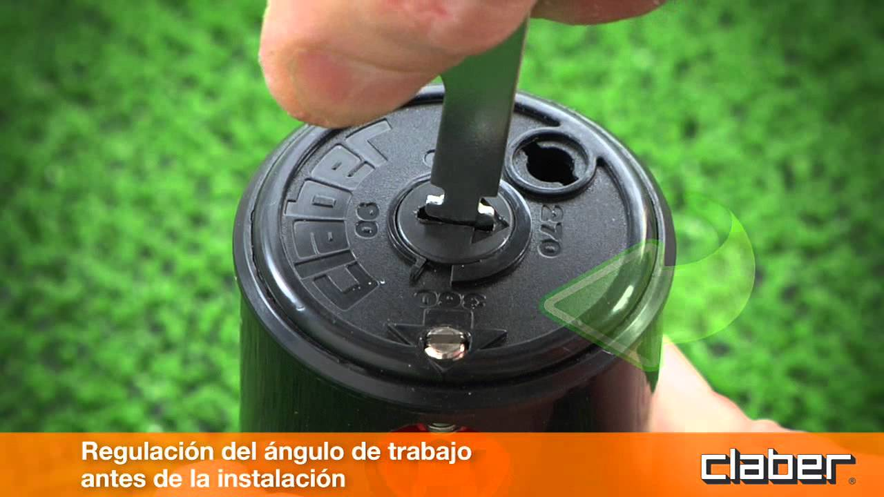 Aspersor con turbina es youtube for Aspersores de riego para jardin