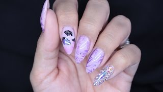 JAPANESE STAMPING NAIL ART | COLLAB WITH DIXIE GIRLXOX