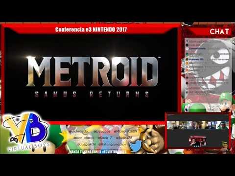 Metroid Samus Returns Reacción en directo Anuncio E3 | Nintendo TreeHouse 2017
