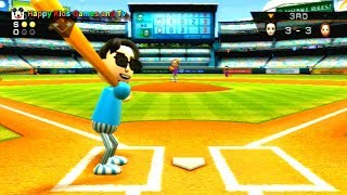 Wii Sports - Baseball - Best Games For Kids - Happy Kids Games And Tv - 1080p