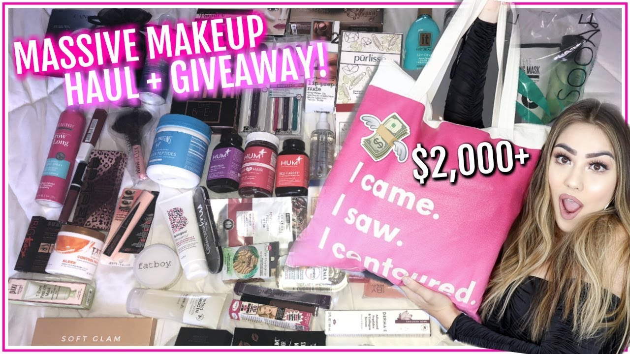 Makeup haul giveaways