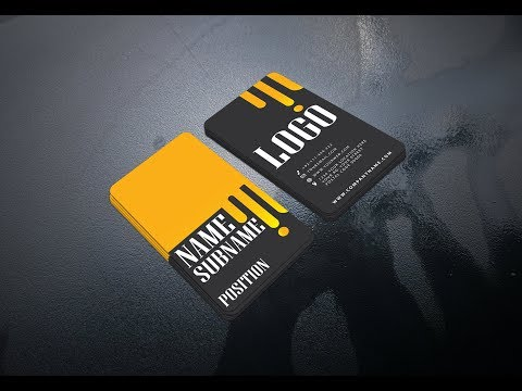 Creative and modern business card design in illustrator free tutorial thumbnail