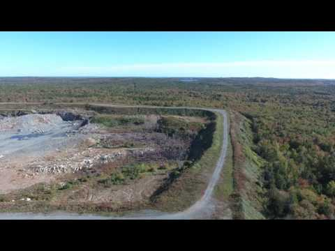 4 K - Gravel Quarry In Montague Mines, NS. Scotia Droning