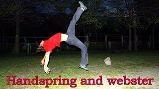 Урок по кульбиту и маховому сальто вперёд | handspring webster |  переворот вперёд - Обучалка