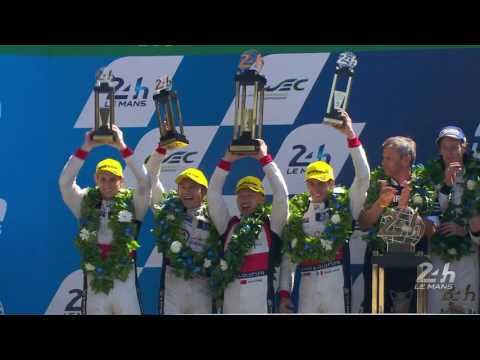 2017 24 Hours of Le Mans - Podium - REPLAY