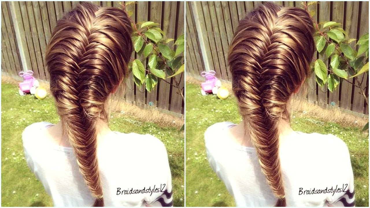 How to : French Fishtail Braid for Beginners ...