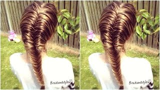 How to :  French Fishtail Braid for Beginners   Braidsandstyles12