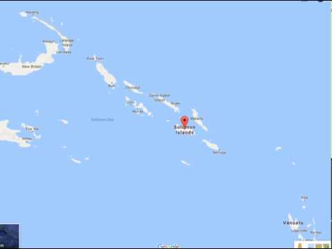 The is is the Map of my country Solomon Islands