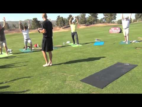 Tour Striker Golf Academy Yoga Segment w The Golf Yogi, Mark Williamson