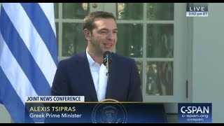 Awkward: Greece PM Alexis Tsipras Asked About Previously Calling Trump 'Evil'