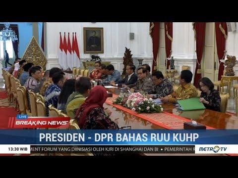 Bahas RKUHP, Jokowi Bertemu DPR di Istana