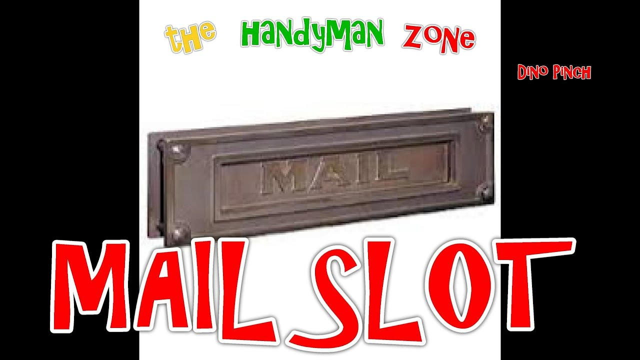 Install MaiL Slot In Door, Prevent Identity Theft   YouTube