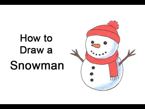 how to draw a snowman youtube