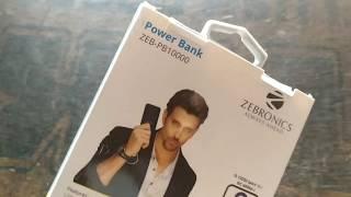 Zebronics power bank 10000 mAh unboxing
