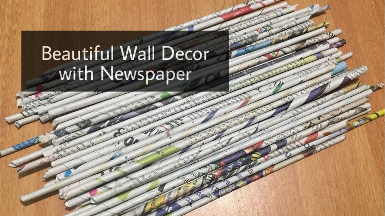 Newspaper Craft Wall Decoration Ideas Wall Decor Home Decor Room Decor Waste Material Craft Youtube