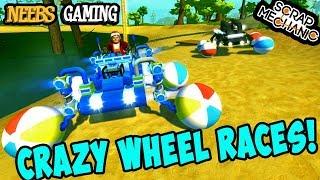 Scrap Mechanic - Crazy Wheels Races!