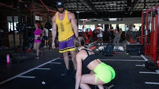 ASKING GIRLS IN THE GYM DOES SIZE MATTER...