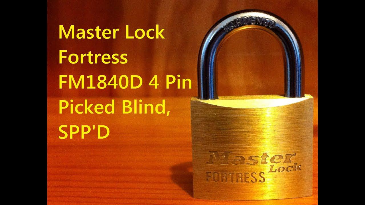 abde311198393 Master Lock Fortress FM1840D 4 Pin SPP D Blind Pick - YouTube