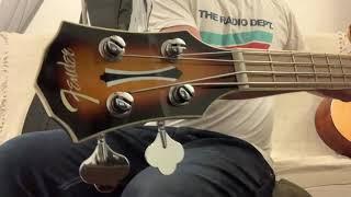 2019 Fender FA-450CE Acoustic Electric Bass 3 Tone Sunburst Indonesia