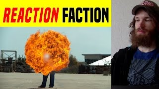 50 ft Flamethrower in 4K Slow Motion - The Slow Mo Guys REACTION!!!