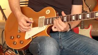 Repeat youtube video 2002 Gibson Les Paul 1957 Reissue Custom Shop, Goldtop / Throbak PAFs  Part1