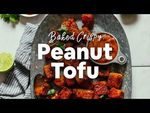 Baked Crispy Peanut Tofu | Minimalist Baker