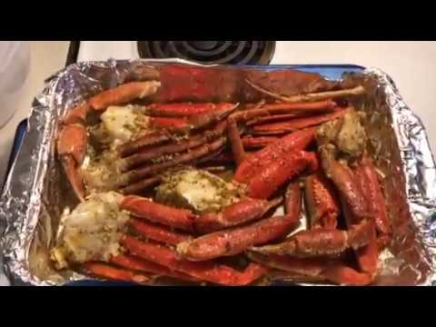 Baked Garlic Butter Crab Legs Seafood Youtube