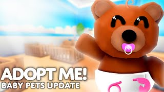 *NEW* Baby Pets Update In Adopt Me! RELEASE DATE & LEAKS (Adopt Me 2022)