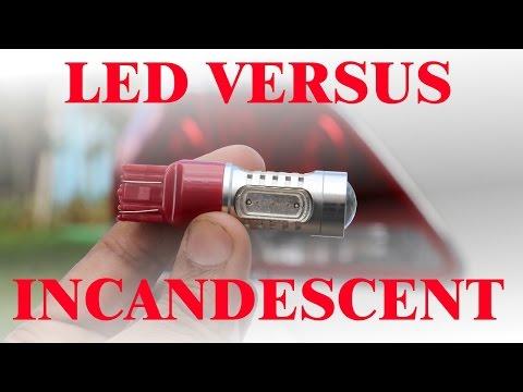 LED vs Incandesent Tail Light Bulb Review