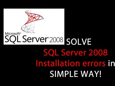 How to Solve | Fix SQL Server 2008 installation error messages ?