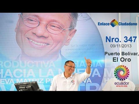 Enlace Ciudadano Nro.347 desde Puerto Bolívar, El Oro