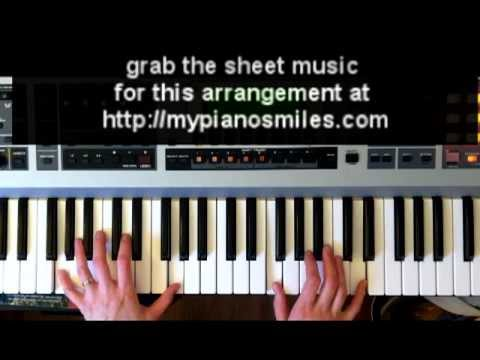 How To Play Lean On Me Easy Piano Sheet Music Youtube