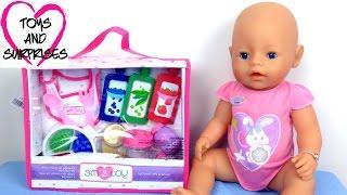 Видео с Куклой Пупсик Baby Born набор еды игрушки для девочек играем в дочки матери Baby Doll(Видео для девочек кормим куклы Пупсик Baby Born набор еды игрушки для девочек играем в дочки матери Baby Doll Feeding..., 2015-08-10T03:21:58.000Z)