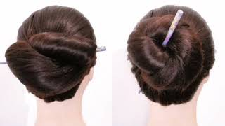 5 hairstyles on 1 stick || hairstyles with stick || juda with stick || easy & quick  hairstyles