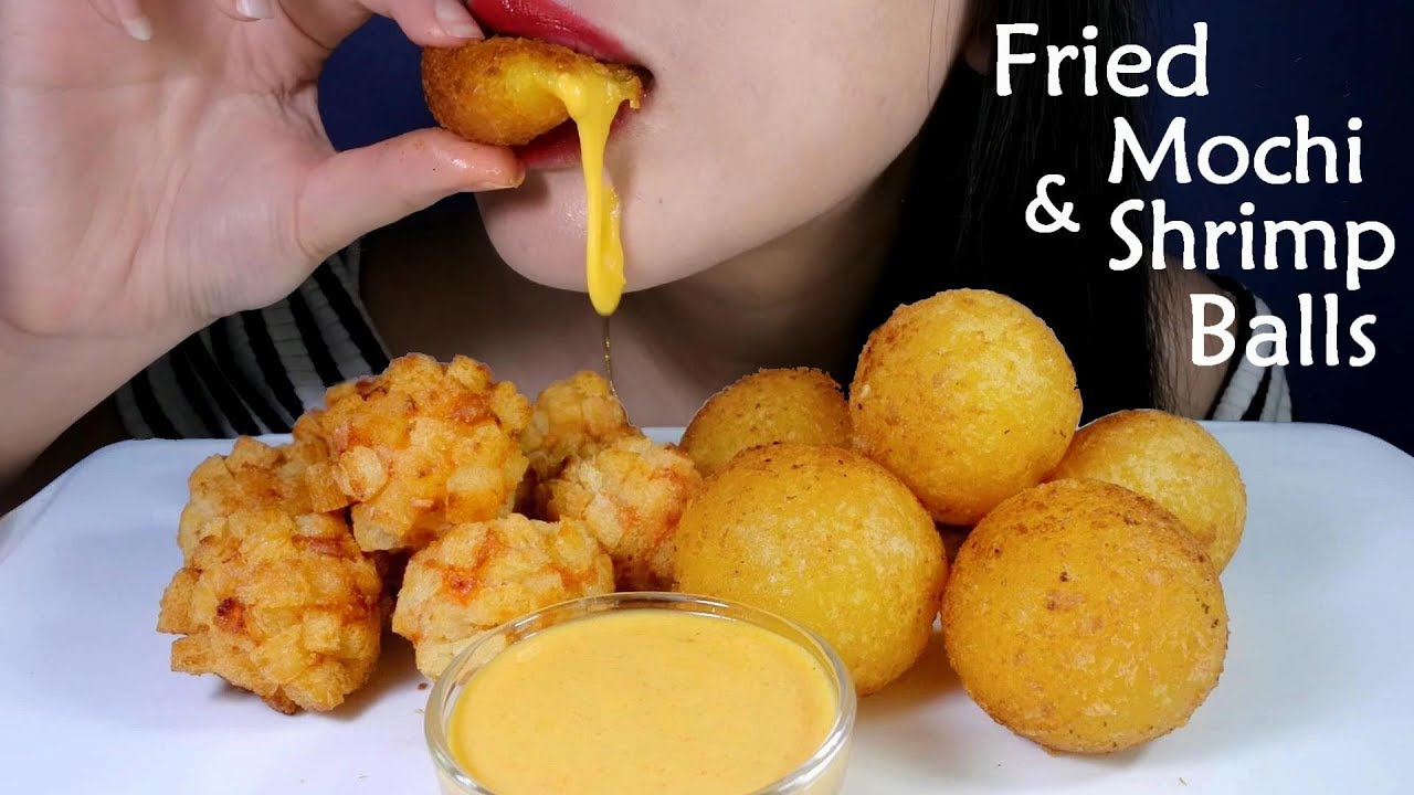 ASMR Fried Mochi & Shrimp Balls 炸麻薯&面包虾球 咀嚼声 먹방*No Talking*EatingSounds|SF ASMR