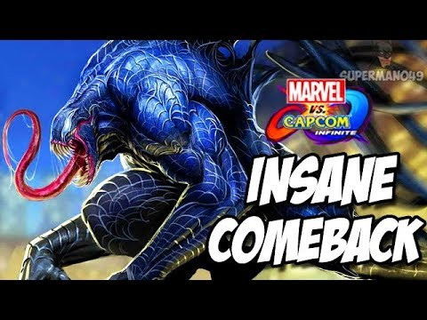 "INSANE COMEBACK WITH VENOM! - Marvel Vs Capcom Infinite ""Venom"" & ""Ms. Marvel"" Gameplay"