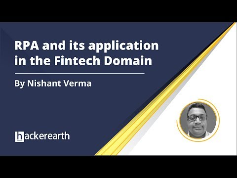RPA and its Applications in the Fintech Domain | HackerEarth