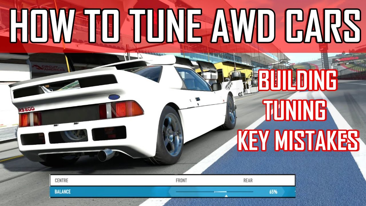 JSR John - How To Tune AWD Cars - AWD Tuning Guide - Forza 7 - Forza Motorsport 7 - Forza Horizon 4