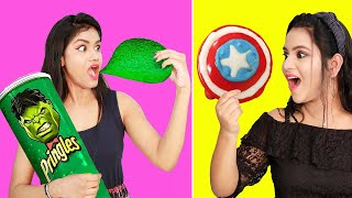 Testing out *SUPERHERO FOOD* Recipes  OMG It&#39s Really SHOCKING!