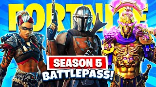 🔴SEASON 5 GAMEPLAY! (Fortnite Season 5 FULL Battle Pass)