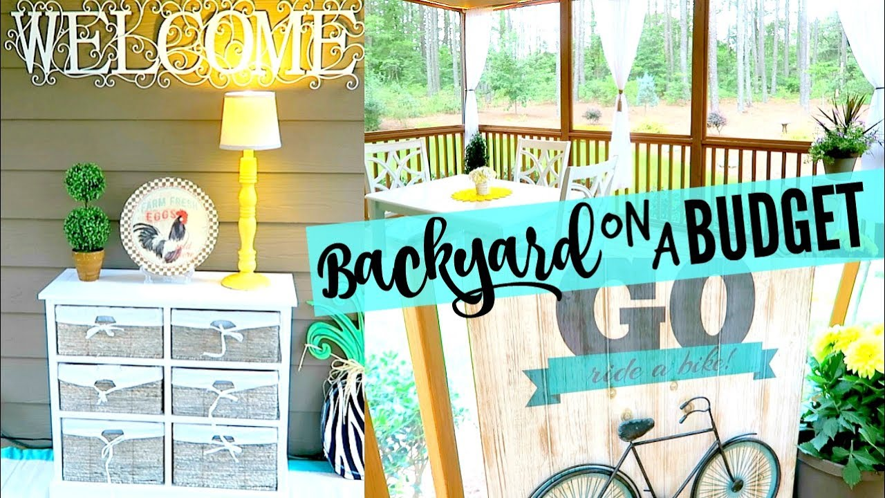 BACKYARD HOUSE TOUR | DECORATING ON A BUDGET | FARMHOUSE COUNTRY ...
