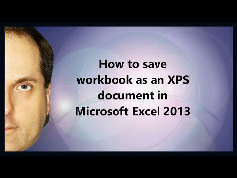 How to save workbook as an XPS document in Microsoft Excel 2013
