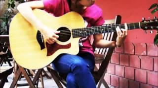 Cover Vẫn mong chờ bằng Guitar cực Kute