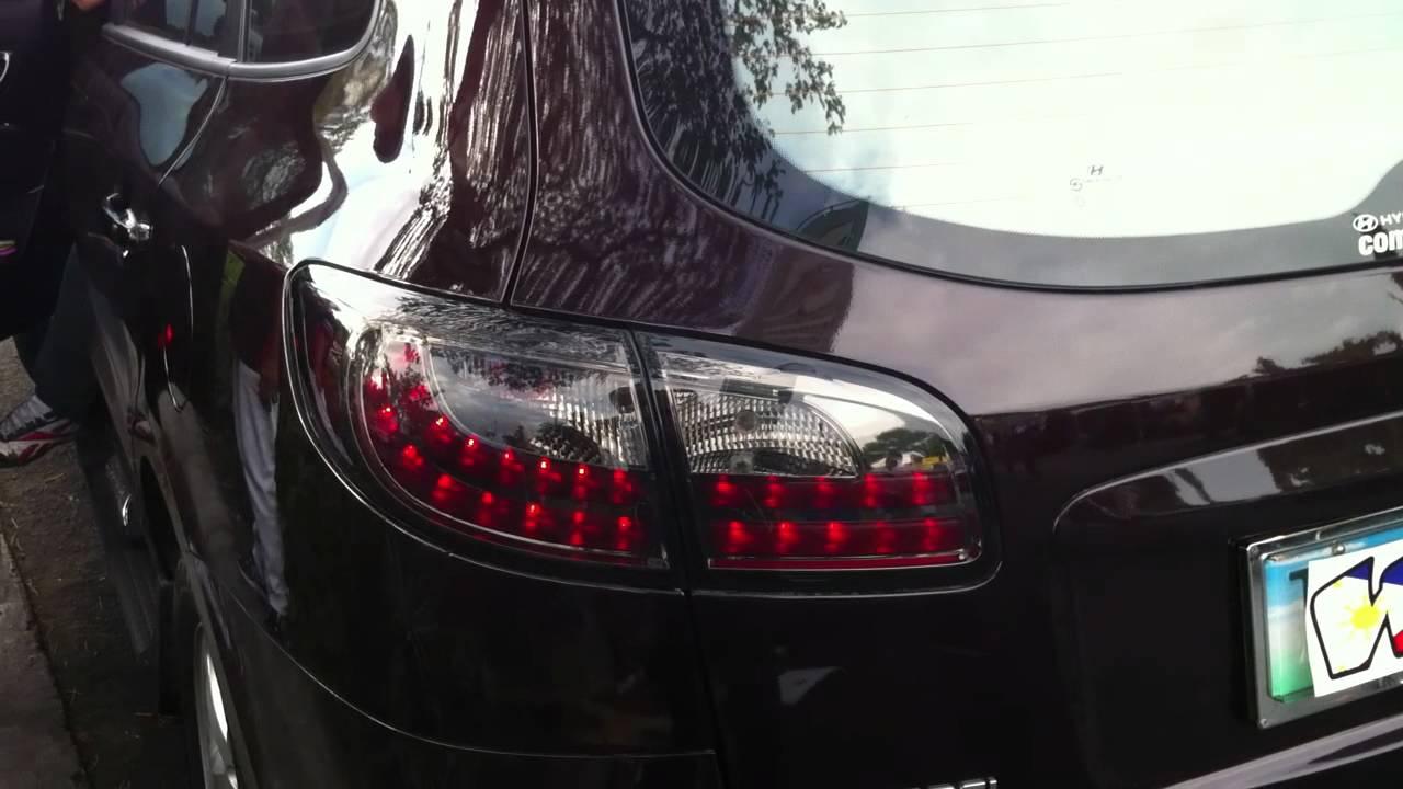 Santafe Led Tail Light Black Edition Youtube