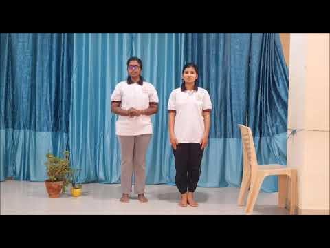 chair surya namaskar or chair sun salutation  yoga for