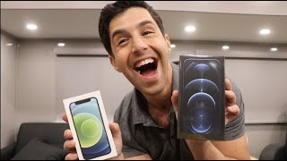 UNBOXING IPHONE 12 PRO MAX AND IPHONE 12 MINI!
