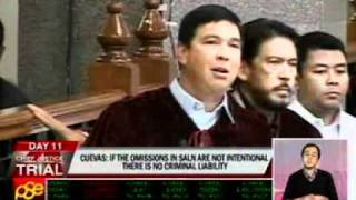 Cuevas to Recto: Discrepancies, inaccuracies in SALN can be corrected #CjonTrial