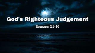 God's Righteous Judgement