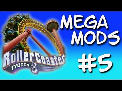 Roller Coaster Tycoon 3 - Mega Mods - Part 5 - Super Colourful Coaster